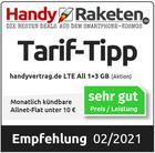 Tarif-Tipp monatlich kündbare Allnet-Flat unter 10 Euro - Handy-Raketen.de