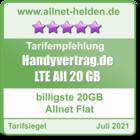 Billigste 20 GB Allnet Flat - allnet-helden.de