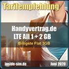 Billigste Flat 3 GB - inside-sim.de